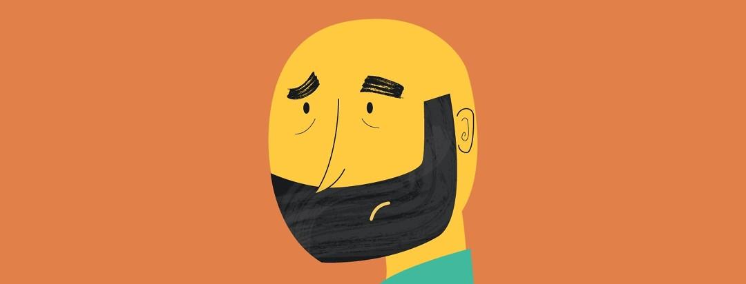 Man with yellow jaundiced skin, looking sad/scared