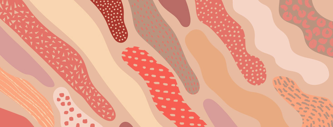 abstract shapes and patterns of varying skin abnormalities