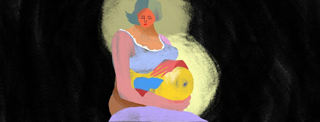 a colorful chalk image of a pregnant woman with a hepatitis c pregnancy